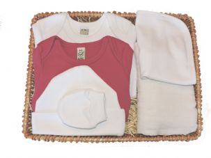 Little Lamb Girls Gift Baby Basket by Mulberry Organics
